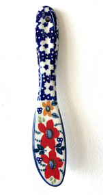 Polish Pottery Butter Knife - Love in Bloom
