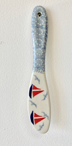 Polish Pottery Stoneware Butter Knife Sail Away