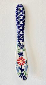 Polish Pottery Stoneware Butter Knife Butterfly Delight