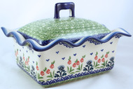Polish Pottery Rectangular Covered Baker - Danny's Girl