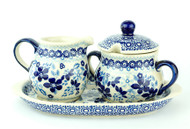 Creamer & Sugar Set Bleu Lace