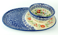 Tray & Bowl Set English Rose