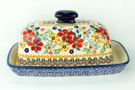 Polish Pottery Butter Dish - Grandma's Garden