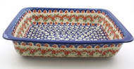 Polish Pottery Lasagna Pan - Impatiens