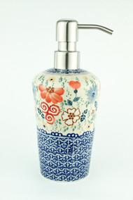 Polish Pottery Soap Dispenser- Audrey
