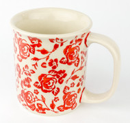 10 oz Stoneware Mug Unikat Rose Garden