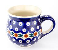 Polish Pottery Stoneware Bubble Mug Mosquito