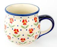 Polish Pottery Stoneware Bubble Mug Simple Elegance