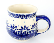 Polish Pottery Stoneware Bubble Mug Fleur