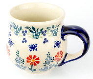 Polish Pottery Stoneware Bubble Mug Butterfly Delight
