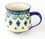 Polish Pottery Stoneware Bubble Mug Emerald
