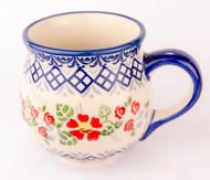 Polish Pottery Stoneware Bubble Mug English Rose