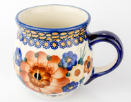 Polish Pottery Stoneware Bubble Mug Golden Fields