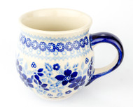 Polish Pottery Stoneware Bubble Mug Circles of Bleu