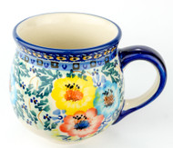 Polish Pottery Stoneware Bubble Mug Primary Colors
