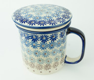 Polish Pottery Tea Mug & Infuser Jeans