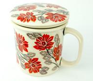 Polish Pottery Tea Mug & Infuser Hamptons