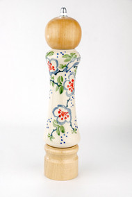 Polish Pottery Pepper Mill Ribbon Light