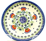 "Polish Pottery Stoneware 10"" Dinner Plate Summer's Day"