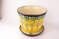 "7"" Flower Pot w/ Saucer Sunlit Meadow"