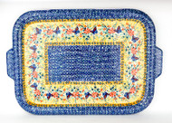 Polish Pottery Stoneware Tray/ Baking Sheet Gifts from the Garden