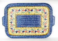 Polish Pottery Stoneware Tray/ Baking Sheet Gifts from the Garden