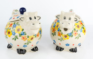Polish Pottery Cow Sugar & Creamer Stella