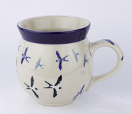 Polish Pottery UNIKAT Bubble Mug Many Birds