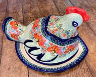 Polish Pottery Unikat Chicken Roaster