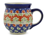 Polish Pottery Bubble Mug - Impatiens