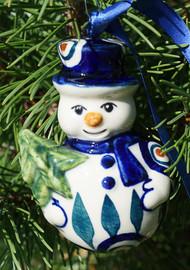 SNOWMAN ORNAMENT Peacock