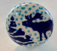 "1"" Drawer Pull Knob Reindeer Games"
