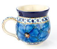 Polish Pottery UNIKAT 12 oz Bubble Mug Cobalt