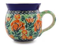 Polish Pottery UNIKAT 12 oz Bubble Mug California
