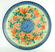 "Polish Pottery Stoneware 10"" Dinner Plate California"