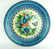 "Polish Pottery Stoneware 10"" Dinner Plate Clara's Garden"