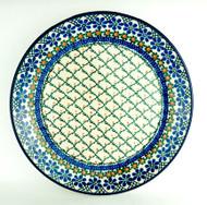 "Polish Pottery Stoneware 10"" Dinner Plate Primrose"