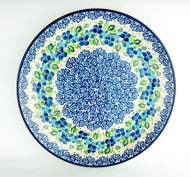 "Polish Pottery Stoneware 10"" Dinner Plate Phlox"