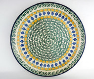 "Polish Pottery Stoneware 10"" Dinner Plate Joy"