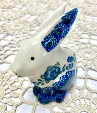 "3"" Bunny Figurine Poppy in Blue"