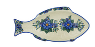 "17"" Fish Shaped Platter Big Blue"