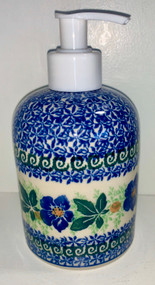 "5"" Soap Dispenser Blue Pansy"