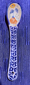 Polish Pottery Sugar Spoon Audrey