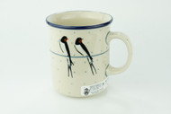 Polish Pottery 10 oz Mug Unikat Swallows
