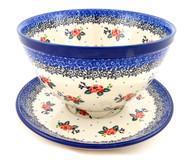 Polish Pottery Colander & Plate Rosette