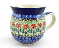 Polish Pottery 16oz Bubble Mug Touch of Mint