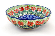 Polish Pottery Berry Bowl Touch of Mint