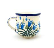 Polish Pottery Espresso Mug Water Tulip