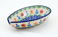Polish Pottery Spoon Rest Youthful Garden