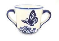 Polish Pottery Children's Mug Butterfly Dance